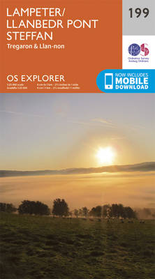 Lampeter, Tregaron and Llan-Non - OS Explorer Map 199 (Sheet map, folded)