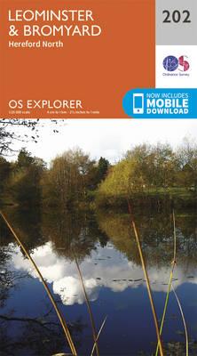 Leominster and Bromyard - OS Explorer Map 202 (Sheet map, folded)