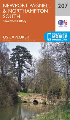 Newport Pagnell and Northampton South - OS Explorer Map 207 (Sheet map, folded)