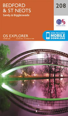 Bedford and St.Neots, Sandy and Biggleswade - OS Explorer Map 208 (Sheet map, folded)