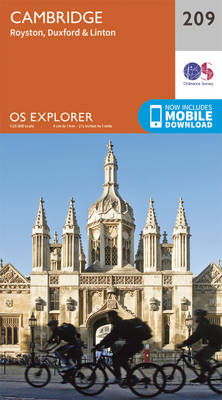 Cambridge, Royston, Duxford & Linton - OS Explorer Map 209 (Sheet map, folded)