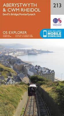 Aberystwyth and Cwm Rheidol - OS Explorer Map 213 (Sheet map, folded)