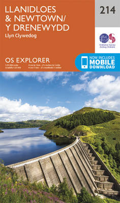 Llanidloes and Newtown - Y Drenewydd - OS Explorer Map 214 (Sheet map, folded)