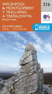 Welshpool and Montgomery - OS Explorer Map 216 (Sheet map, folded)