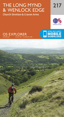 Long Mynd and Wenlock Edge - OS Explorer Map 217 (Sheet map, folded)