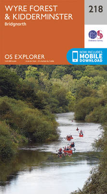 Kidderminster and Wyre Forest - OS Explorer Map 218 (Sheet map, folded)