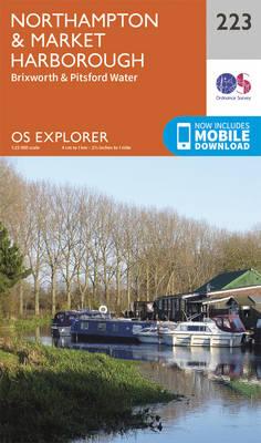 Northampton and Market Harborough - OS Explorer Map 223 (Sheet map, folded)