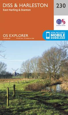 Diss & Harleston - OS Explorer Map 230 (Sheet map, folded)