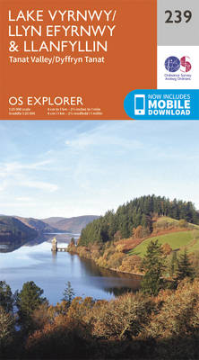 Lake Vyrnwy and Llanfyllin, Tanat Valley - OS Explorer Map 239 (Sheet map, folded)