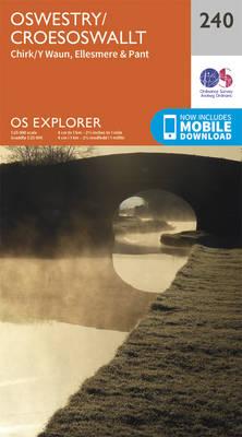 Oswestry / Croesoswallt - OS Explorer Map 240 (Sheet map, folded)