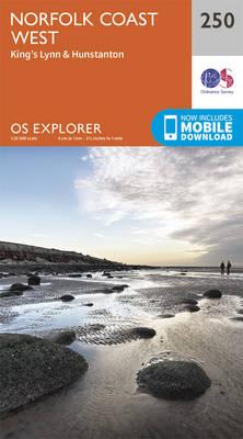Norfolk Coast West - OS Explorer Map 250 (Sheet map, folded)