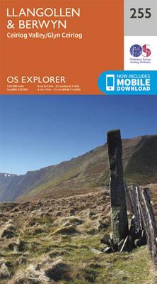 Llangollen and Berwyn - OS Explorer Map 255 (Sheet map, folded)