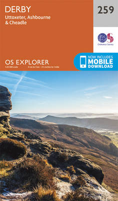 Derby, Uttoxeter, Ashbourne and Cheadle - OS Explorer Map 259 (Sheet map, folded)