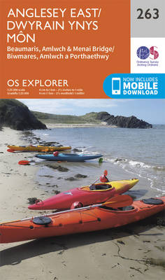 Anglesey East - OS Explorer Map 263 (Sheet map, folded)
