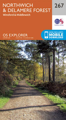 Northwich and Delamere Forest - OS Explorer Map 267 (Sheet map, folded)