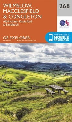 Wilmslow, Macclesfield and Congleton - OS Explorer Map 268 (Sheet map, folded)
