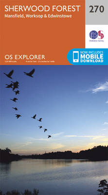 Sherwood Forest - OS Explorer Active Map 270 (Sheet map, folded)