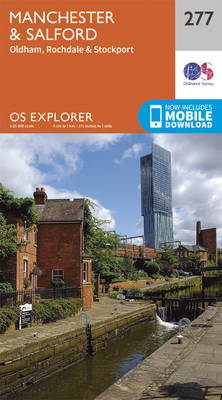 Manchester and Salford - OS Explorer Active Map 277 (Sheet map, folded)