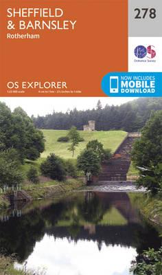 Sheffield and Barnsley - OS Explorer Active Map 278 (Sheet map, folded)