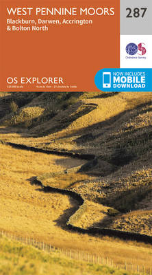 West Pennine Moors - Blackburn, Darwen and Accrington - OS Explorer Active Map 287 (Sheet map, folded)