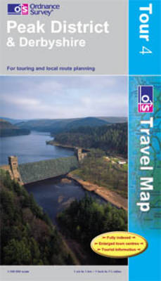 Peak District and Derbyshire - OS Travel Map - Tour Map Sheet 4 (Sheet map, folded)