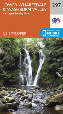 Lower Wharfedale and Washburn Valley - OS Explorer Active Map 297 (Sheet map, folded)