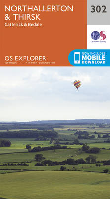 Northallerton and Thirsk - Catterick and Bedale - OS Explorer Active Map 302 (Sheet map, folded)