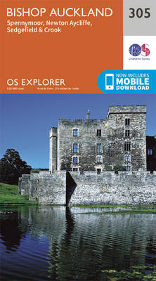 Bishop Auckland - Spennymoor and Newtown - OS Explorer Active Map 305 (Sheet map, folded)