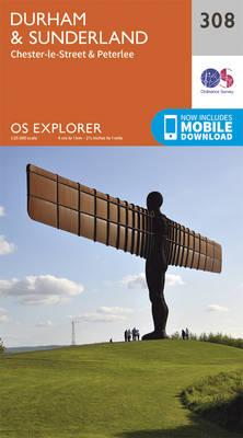 Durham and Sunderland - OS Explorer Active Map 308 (Sheet map, folded)