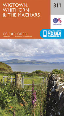 Wigtown, Whithorn and the Machars - OS Explorer Active Map 311 (Sheet map, folded)
