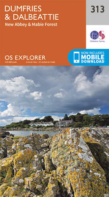 Dumfries and Dalbeattie - OS Explorer Active Map 313 (Sheet map, folded)