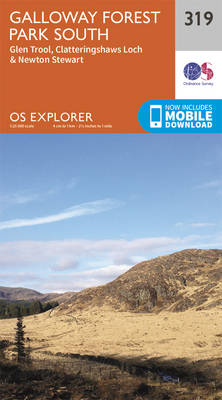Galloway Forest Park South - OS Explorer Active Map 319 (Sheet map, folded)