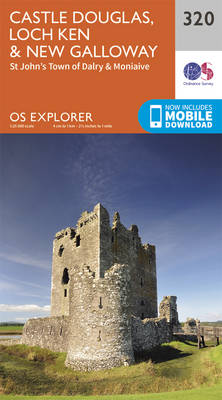 Castle Douglas, Loch Ken and New Galloway - OS Explorer Active Map 320 (Sheet map, folded)