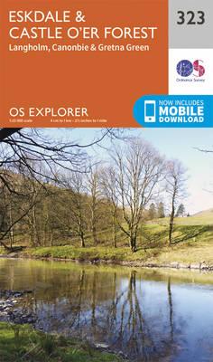 Eskdale and Castle O'er Forest - OS Explorer Active Map 323 (Sheet map, folded)
