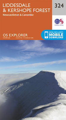 Liddesdale and Kershope Forest - OS Explorer Active Map 324 (Sheet map, folded)