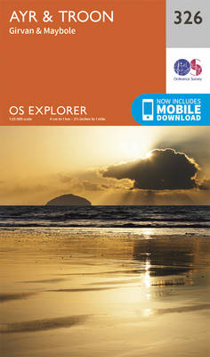 Ayr and Troon - OS Explorer Active Map 326 (Sheet map, folded)