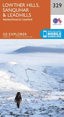 Lowther Hills, Sanquhar and Leadhills - OS Explorer Active Map 329 (Sheet map, folded)