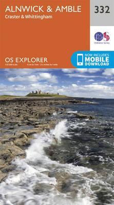 Alnwick and Amble, Craster and Whittingham - OS Explorer Map 332 (Sheet map, folded)