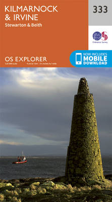 Kilmarnock and Irvine - OS Explorer Active Map 333 (Sheet map, folded)