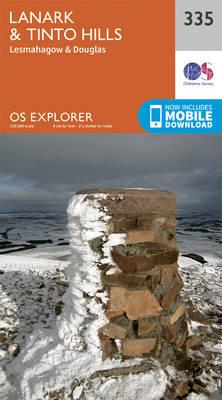 Lanark and Tinto Hills - OS Explorer Active Map 335 (Sheet map, folded)