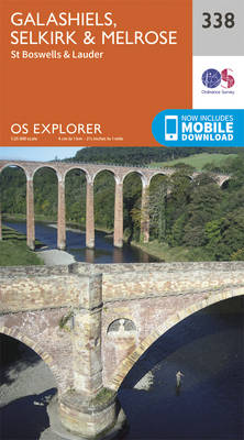 Galashiels, Selkirk and Melrose - OS Explorer Active Map 338 (Sheet map, folded)