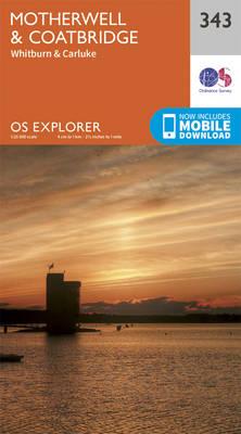 Motherwell and Coatbridge - OS Explorer Active Map 343 (Sheet map, folded)