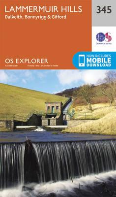 Lammermuir Hills - OS Explorer Active Map 345 (Sheet map, folded)