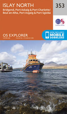 Islay North - OS Explorer Active Map 353 (Sheet map, folded)