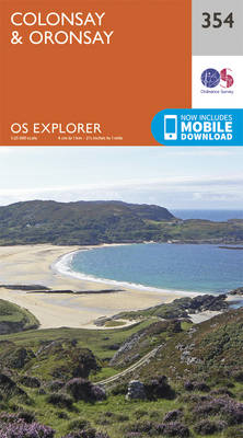 Colonsay and Oronsay - OS Explorer Active Map 354 (Sheet map, folded)