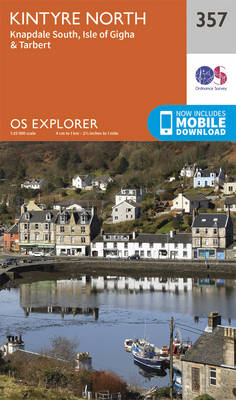Kintyre North - OS Explorer Active Map 357 (Sheet map, folded)
