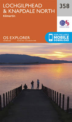 Lochgilphead and Knapdale North - OS Explorer Active Map 358 (Sheet map, folded)