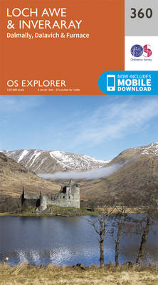 Loch Awe and Inveraray - OS Explorer Active Map 360 (Sheet map, folded)