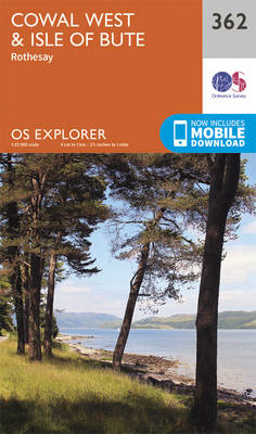 Cowal West and Isle of Bute - OS Explorer Active Map 362 (Sheet map, folded)