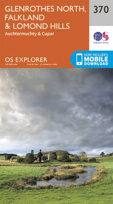 Glenrothes North, Falkland and Lomond Hills - OS Explorer Active Map 370 (Sheet map, folded)